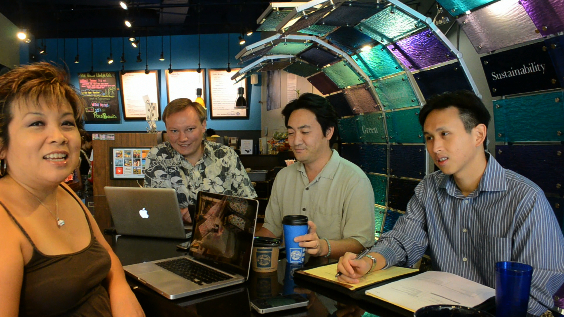 Hawaii: IRL @melissa808 Visits With @s4xton @ricknakama and @rkhewesq To Talk Cofficing @bluehilifestyle