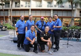 Na Mele No Na Pua at Waikiki Beach Walk featuring Na Mea Ho`okani on May 21, 2017