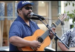 Recorded Live: Na Mele No Na Pua featuring Kawika Kahiapo at Waikiki Beach Walk on 08-19-18